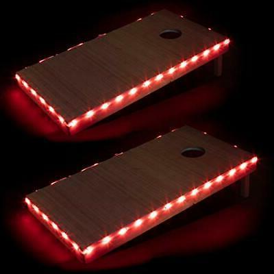 led cornhole board lights set of 2