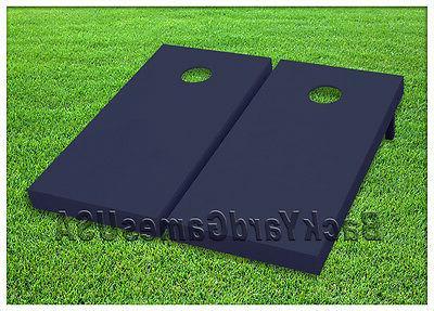 navy blue cornhole boards custom beanbag toss