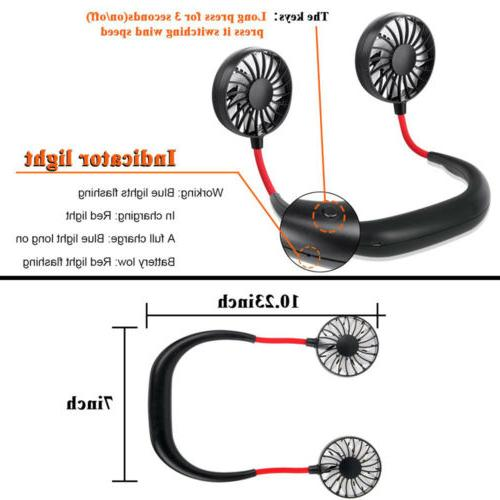 Neckband Fan Rechargeable Cooling Mini Lazy Hanging