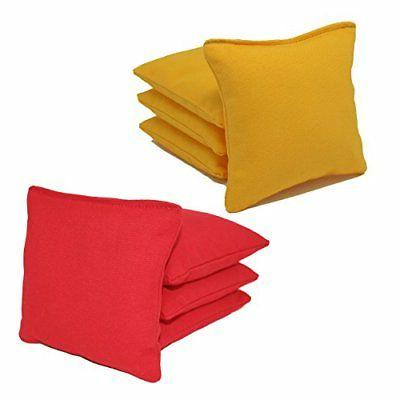 new cornhole bags pack of 8 red