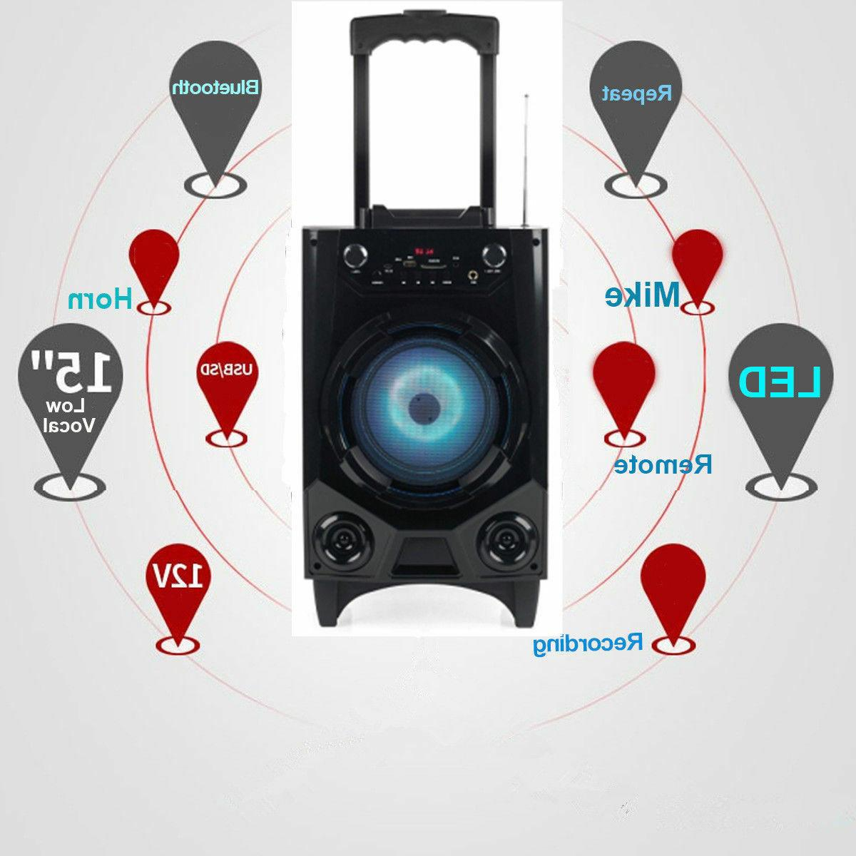 Bluetooth Big Led Stereo Tailgate Mic