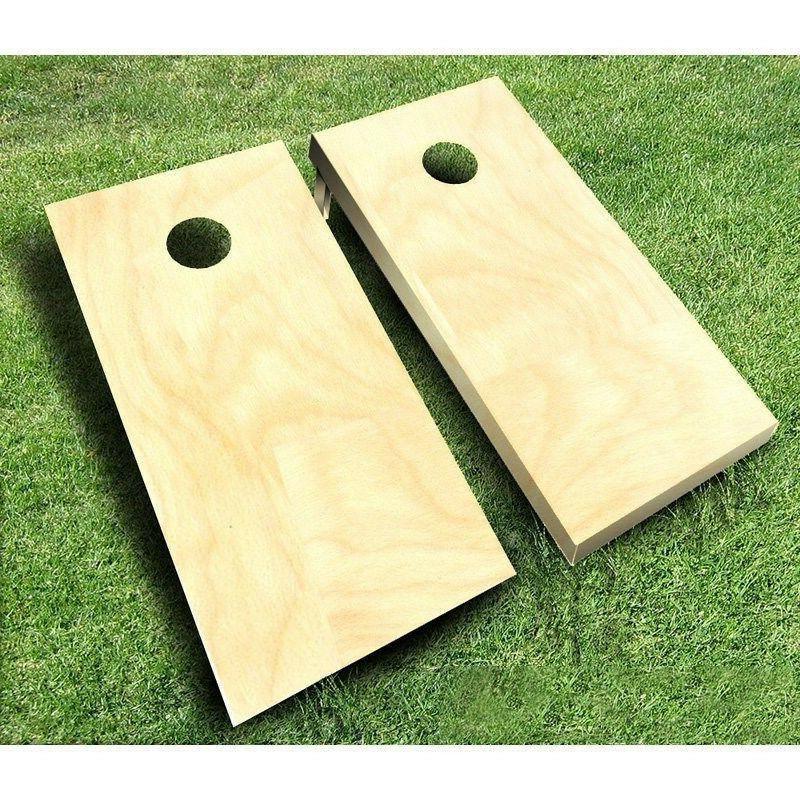 plain unfinished cornhole boards set bean bag
