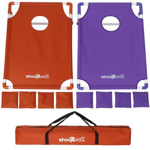 All-Weather PVC Beanbag Toss Cornhole Game 8 Beanbags Tailga