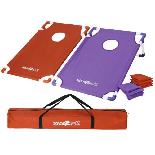 collapsible portable cornhole toss game set