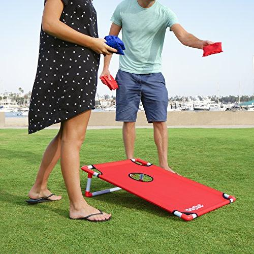 GoSports PVC Cornhole and Carrying - Design, Blue or Football