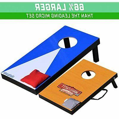 GoSports Portable Size Cornhole Game Set Bean Design