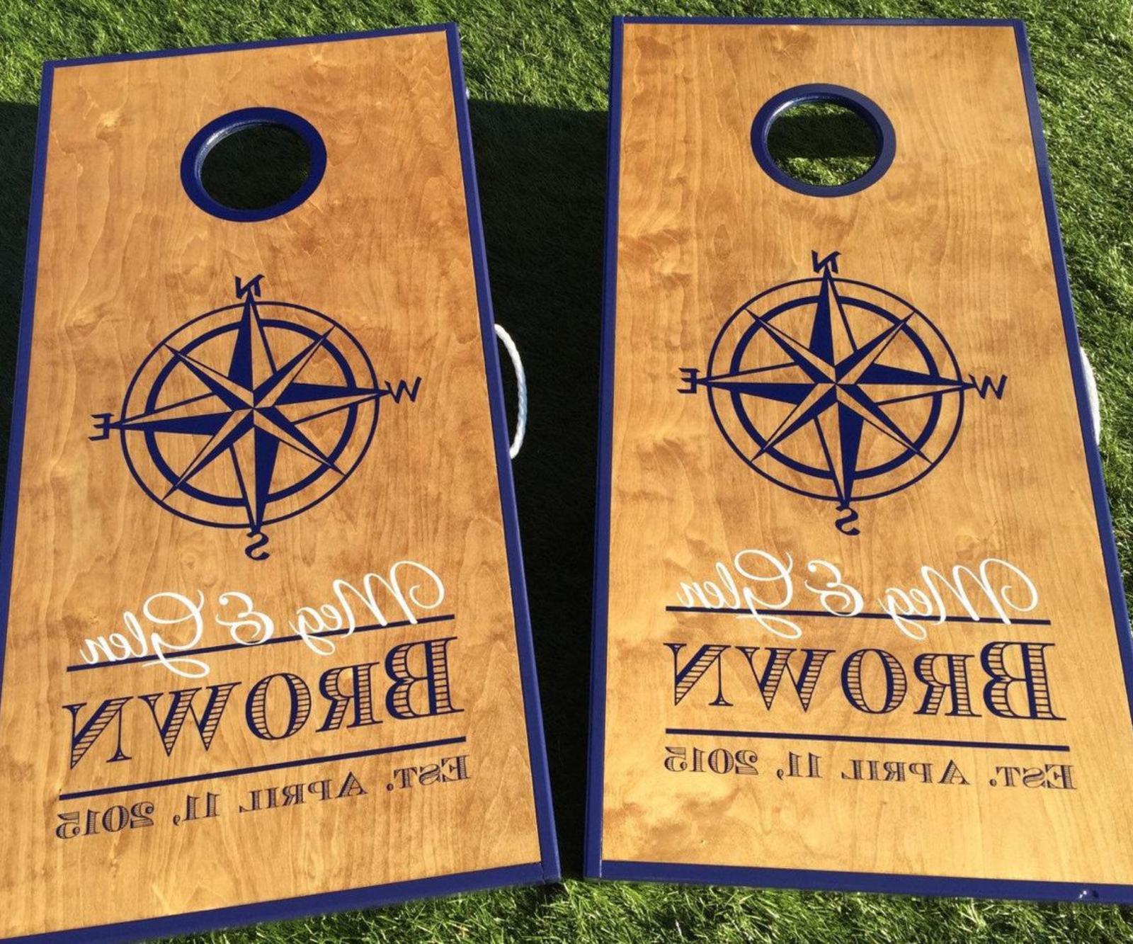 regulation cornhole boards solid wood premium craft