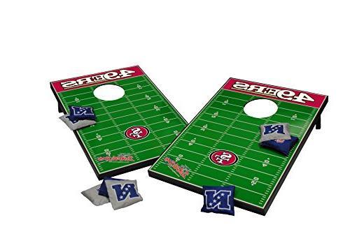 San Francisco 49ers NFL Football Field Bean Bag Toss Game