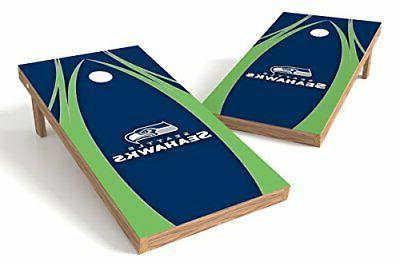 seatle seahawks logo authentic cornhole game set