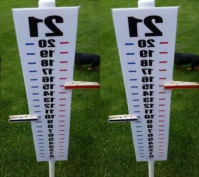 set of 2 easy read cornhole scoreboard