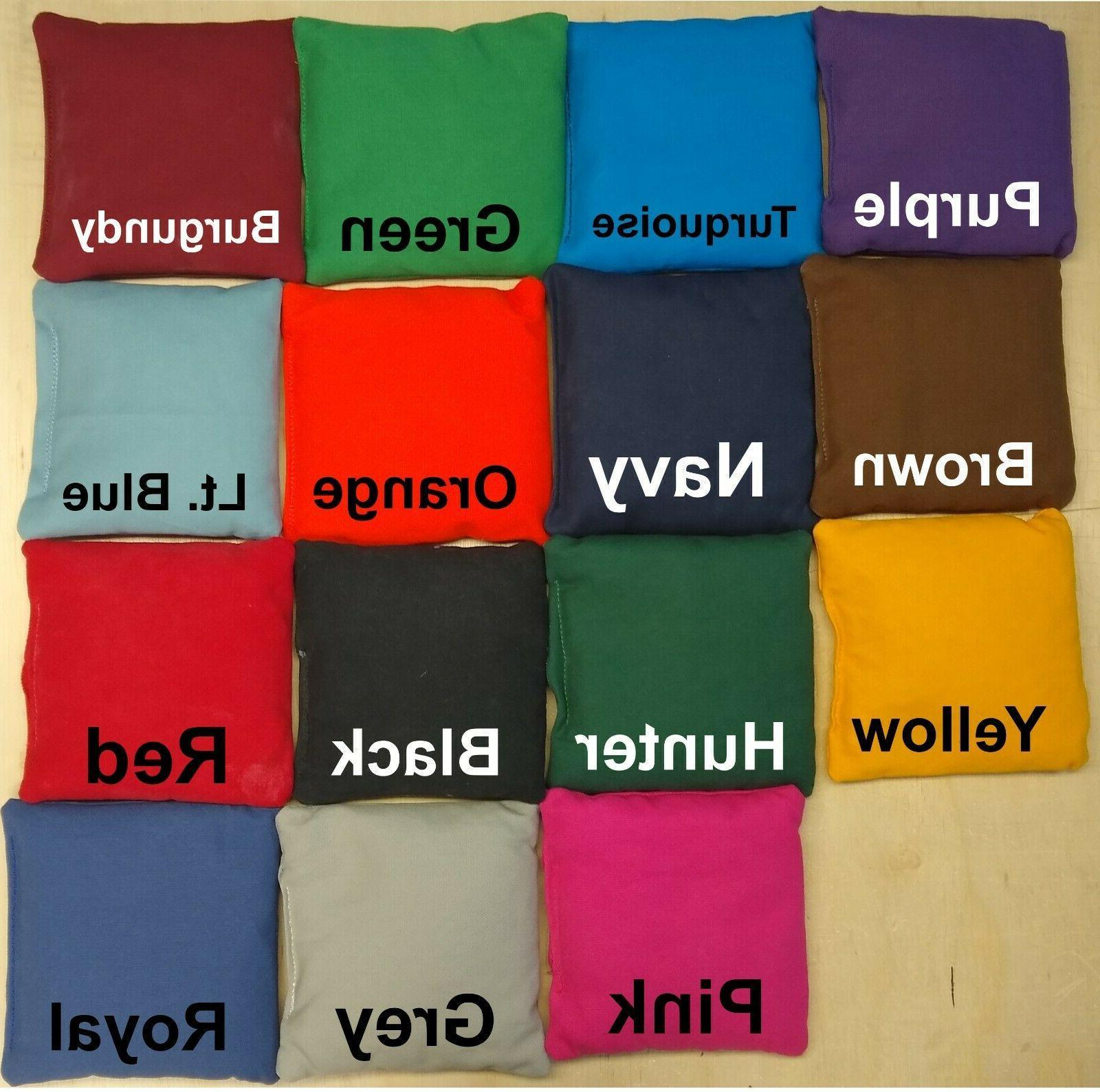 set of 8 cornhole bags aca regulation