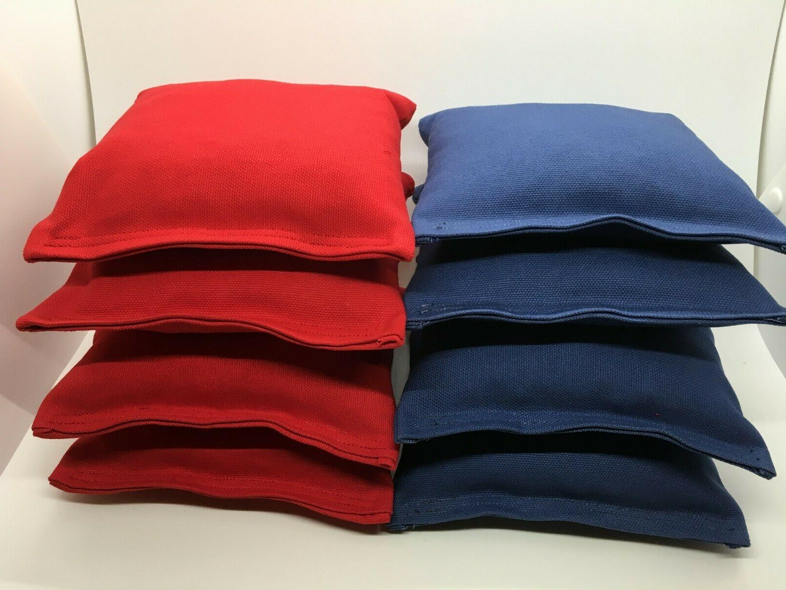 set of 8 cornhole bags regulation size