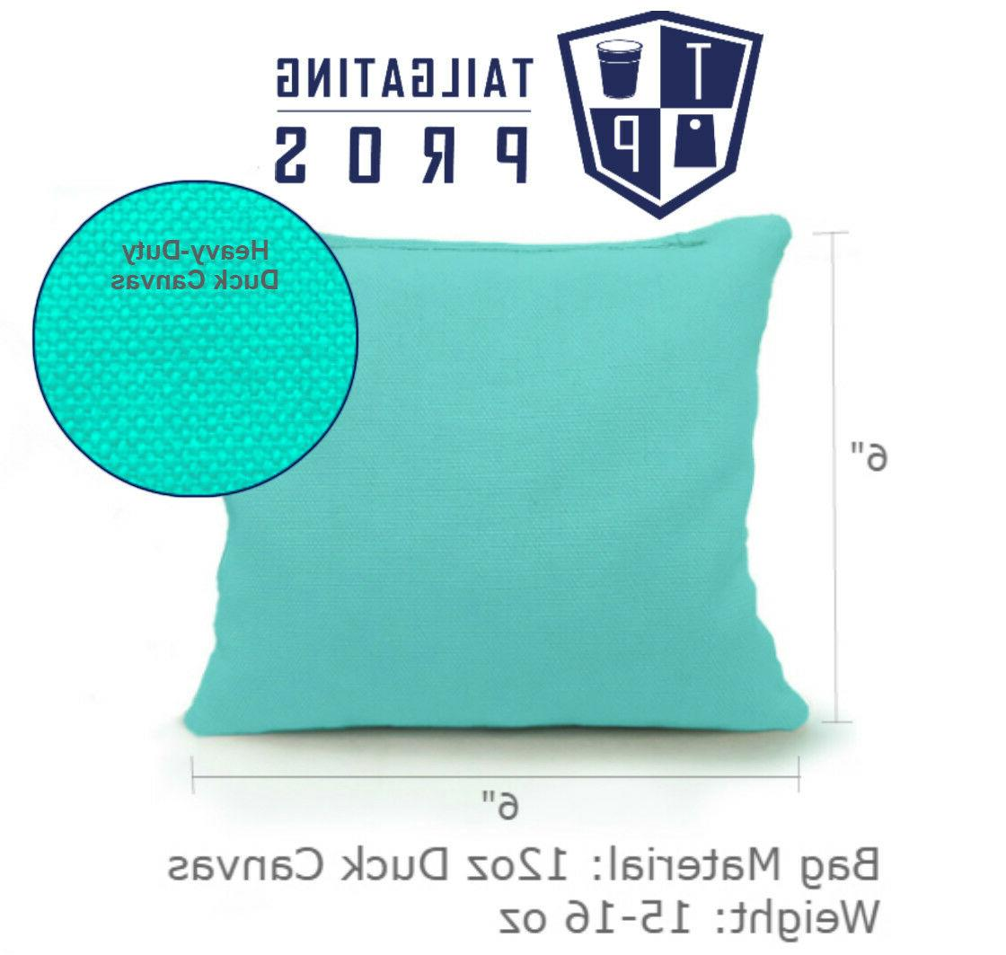 Set of 8 Cornhole Bags Regulation 25 Colors - Filled