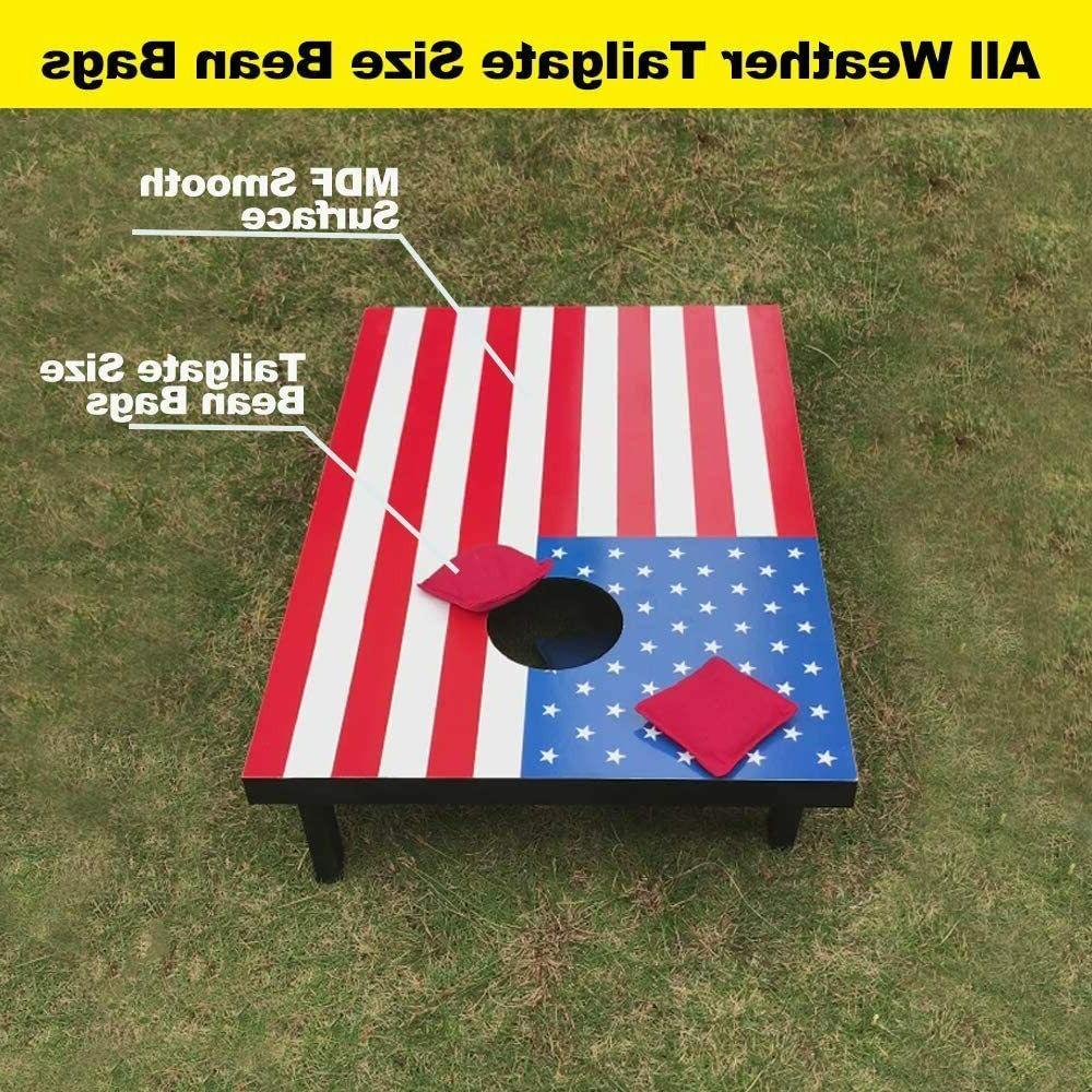 haxTON Solid Wood Premium Sets; American Flag; hole game; FUN