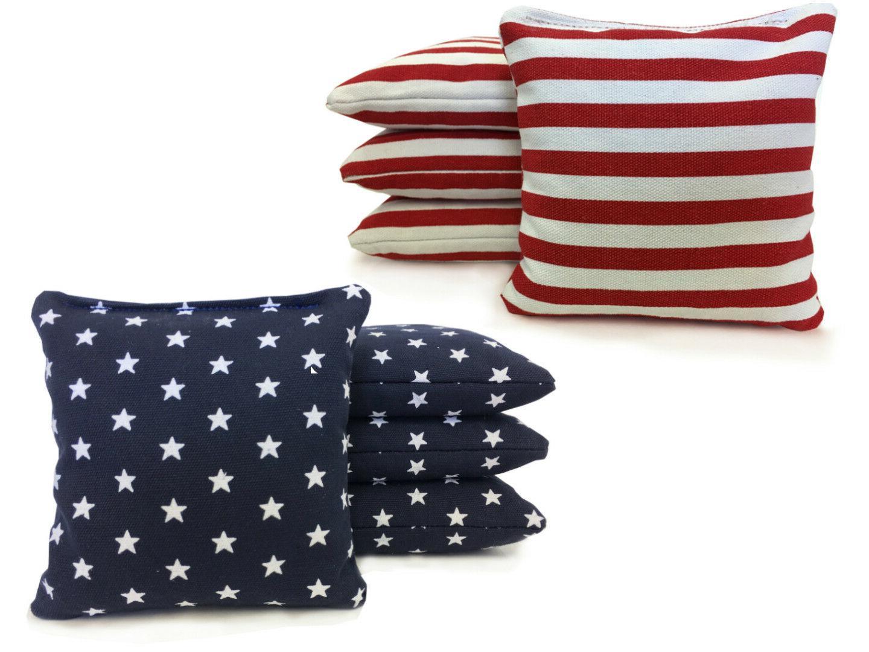 stars and stripes cornhole bags set of