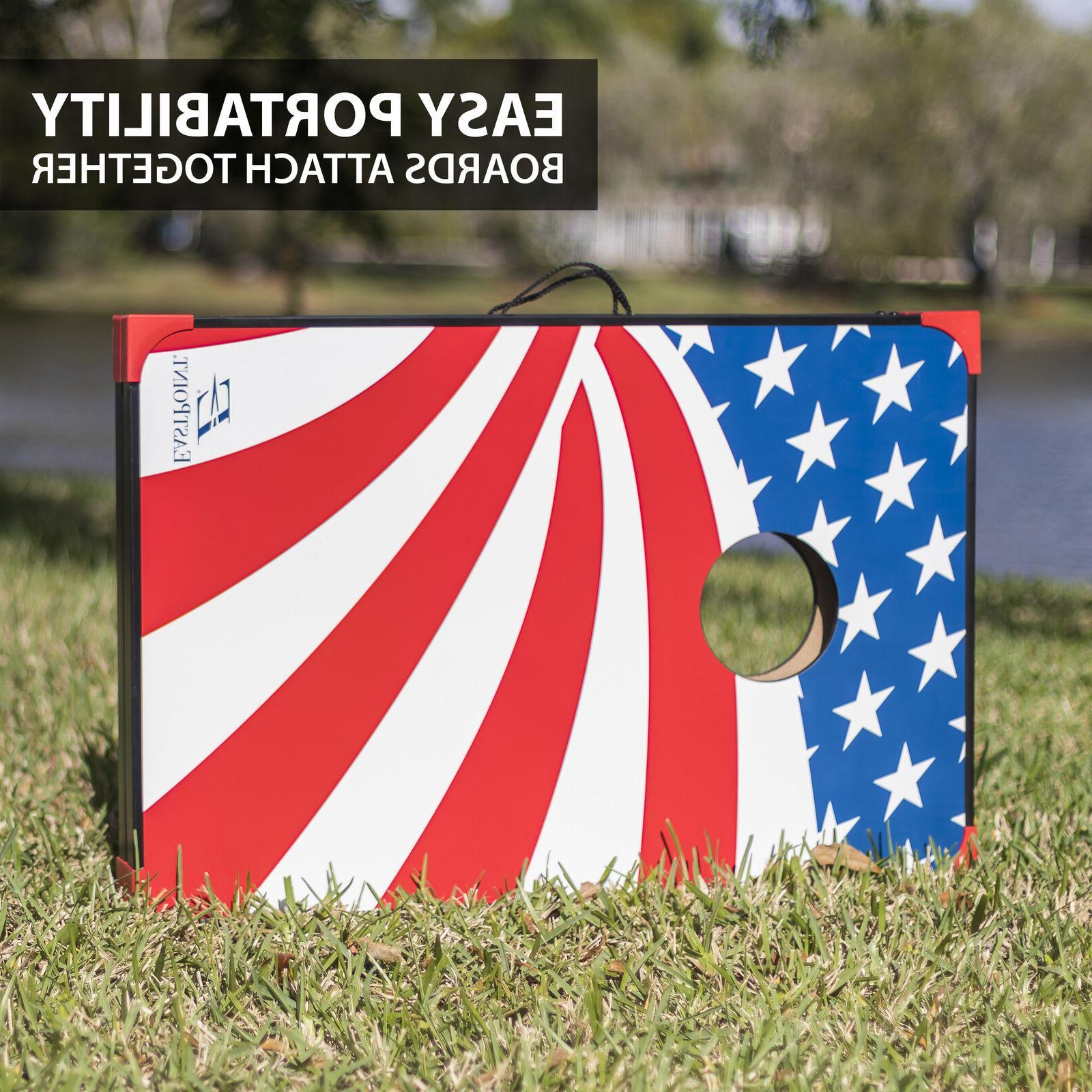 Stars Stripes Cornhole Bag Board Game Storage 3' x 2'