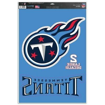 tennessee titans multi use decals 11 x17