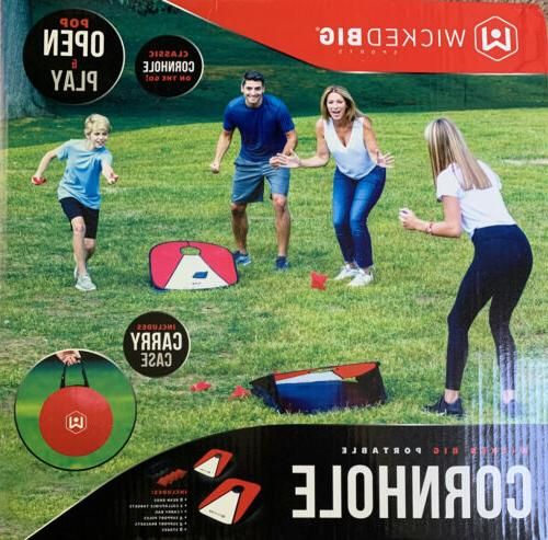 travel portable cornhole game set for kids