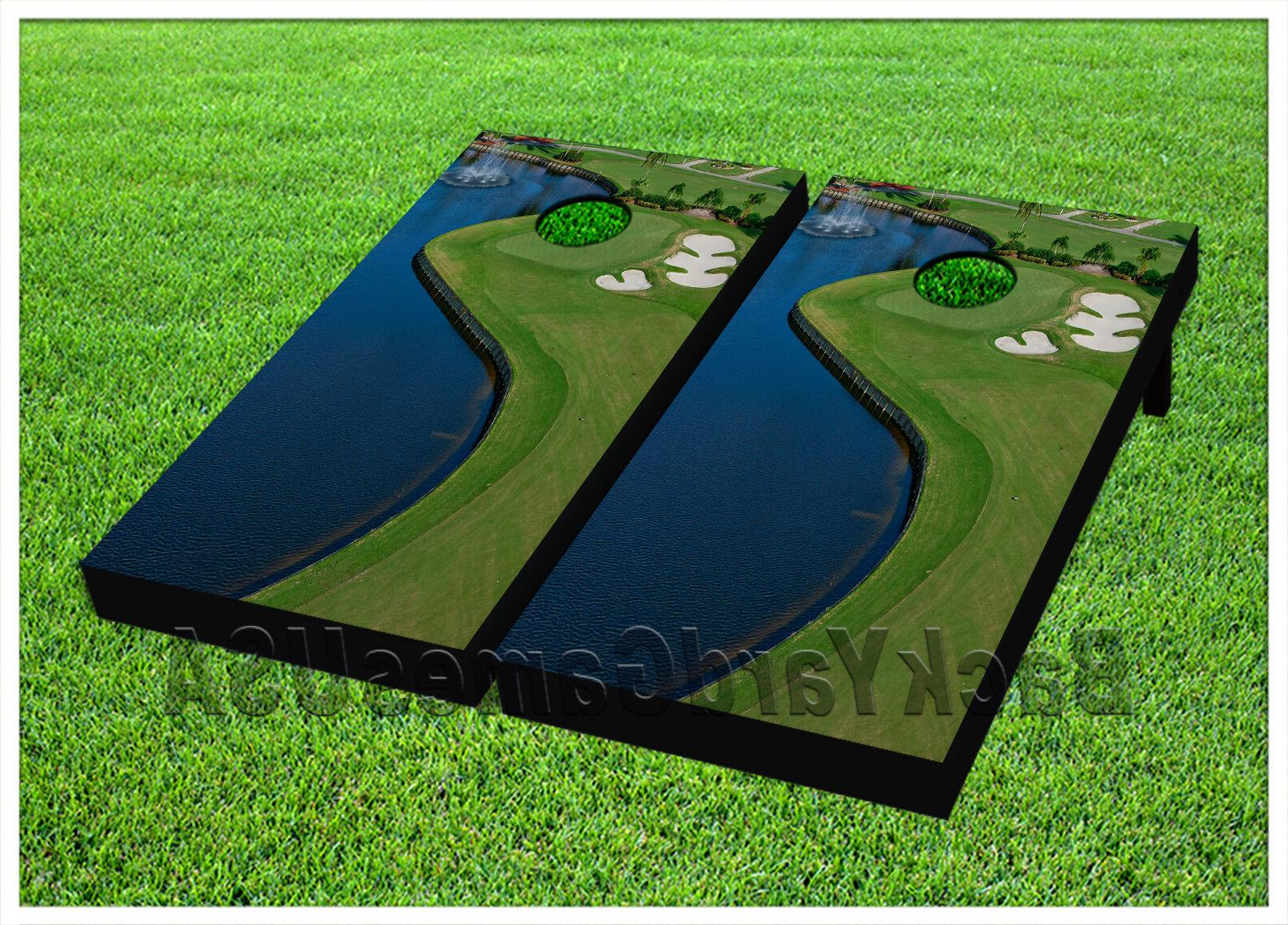 vinyl cornhole beanbag beautiful golf coarse boards