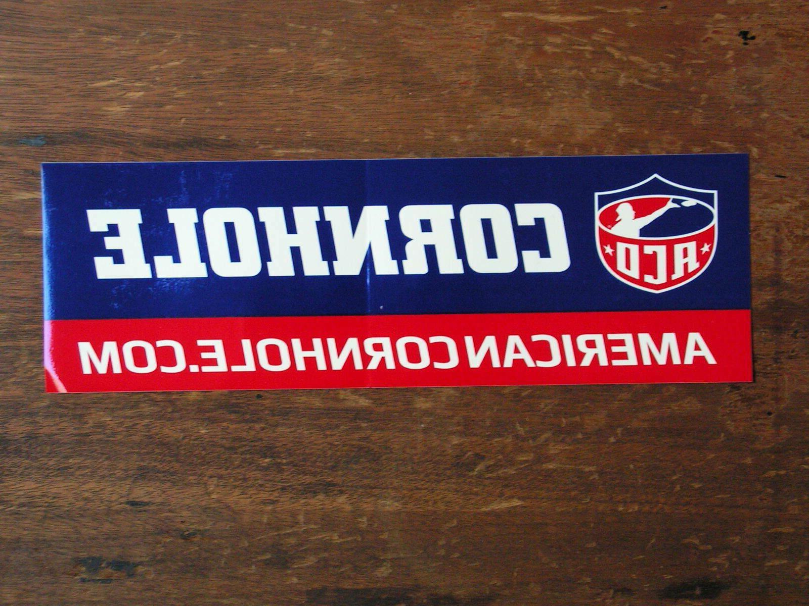 xl american cornhole organization sticker new sticker