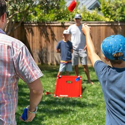 GoSports PVC Cornhole Boards Game Set with and for Kids