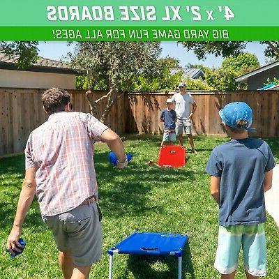 GoSports PVC Cornhole Boards with 8 Bags and for Kids