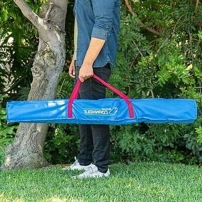 GoSports PVC Cornhole Boards Toss with 8 and