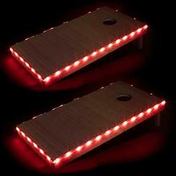 Play Platoon LED Cornhole Board Lights Set of 2, Red - Corn