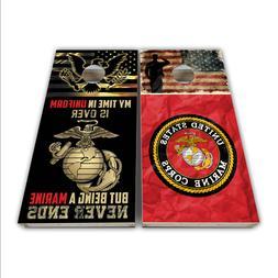 Marine Corps Cornhole Decal Laminated 3M Vinyl Cornhole Wrap