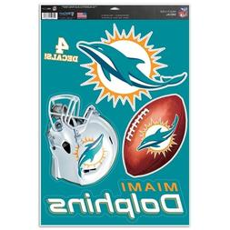 "Miami Dolphins 11"" x 17"" Multi Use Decals - Auto, Walls, Win"