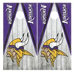 Minnesota Vikings Cornhole Board Wraps Skins Vinyl Laminated