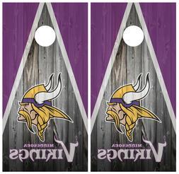 Minnesota Vikings Wood Cornhole Board Wraps Skins Vinyl Lami