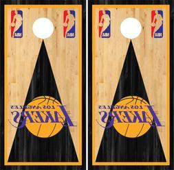 NBA Los Angeles Lakers Basketball  Cornhole Skin Wrap set 3M