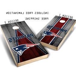 New England Patriots Cornhole Board Skin Wrap Decal SET - La