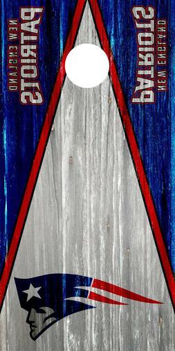 new england patriots cornhole wrap board decal