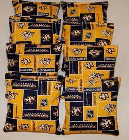 NEW Nashville Predators 8 Cornhole Bean Bags ACA Regulation