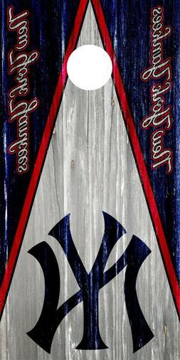 New York Yankees Cornhole Wrap Skin Decal MLB 3M Board SINGL