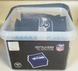 Wild Sports NFL XL Bean Bag - 4 Pack, Blue Seattle Seahawks