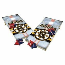 Wild Sports NHL XL Shield Cornhole Set, Boston Bruins, Tourn