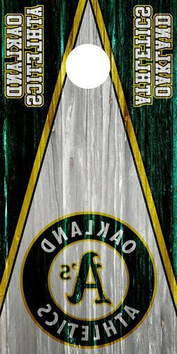Oakland Athletics Cornhole Wrap Skin Decal MLB 3M Logo Game