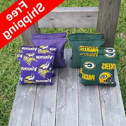 Packers / Vikings Cornhole Bags - Top Quality - FREE Shippin