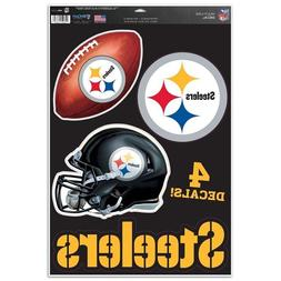 """Pittsburgh Steelers 11"""" x 17"""" Multi Use Decals - Auto, Walls"""