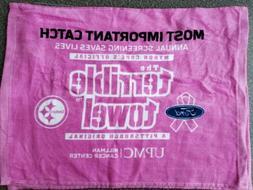 Pittsburgh Steelers Pink terrible towel Heinz Field SGA 10/6