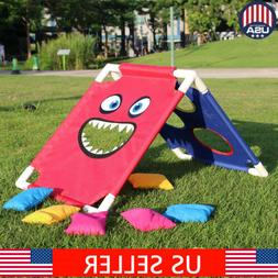 Portable ABS Framed Cornhole Game Set with 6 Bean Bags and T