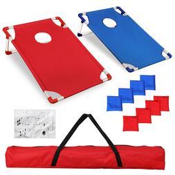 Cornhole Beanbag Toss Game W Bags PVC Framed Game Targets Po