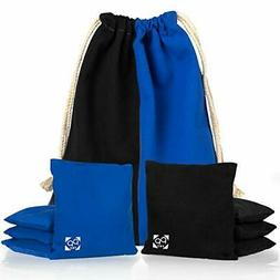 Cornhole Bags-Set of 8 Two Sided Bean Bags for Pro Corn Hole