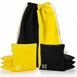 Professional Cornhole Bags - Set of 8 Two Sided Bean Bags fo