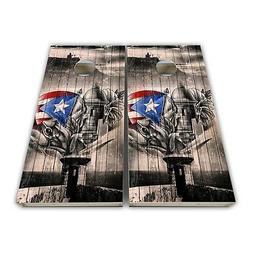 Puerto Rico Flag Cornhole Decal Laminated 3M Vinyl Cornhole