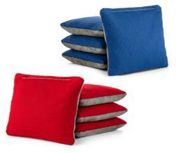red royal blue pro style cornhole bags
