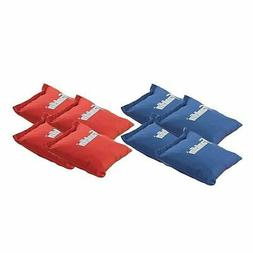 red white blue badminton cornhole toss set